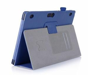 【LIHOULAI】NEC LAVIE Tab E TE510/BAL PC-TE510BAL 10.1インチ専用保護ケース ハンドストラップ付き カード収納ポケット付き microSDカ