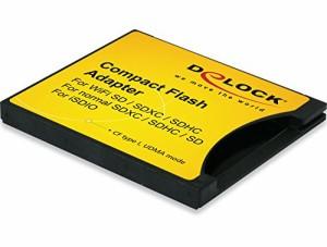 DeLOCK SDXC/SDHC/SDカードをCF Type?に変換するアダプタ【62637】