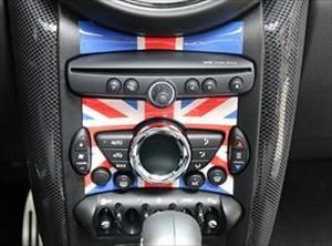 BMW MINI ミニクーパー ラジオ デコレーション 3D ステッカー シール 丸穴 (ユニオンジャック)