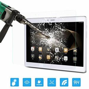 ATiC Huawei docomo Dtab d-01H 10.1インチ&Huawei MediaPad M2 10.0タブレット専用強化ガラス液晶保護フィル防止/気泡ゼロ 透明 (一枚)