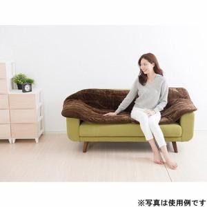 山善(YAMAZEN) 洗えるどこでもカーペット(180×80cm) フランネル仕上げ 室温センサー付 ブラウン YWC-182F(T)
