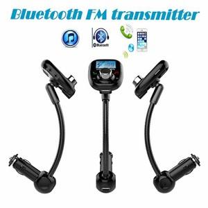 2016人気商品 車用アクセサリー 柔軟なホース 最適角度に調節可 FMトランスミッターカーキットMP3プレーヤー Bluetooth FM変調器 ハ