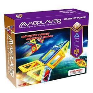 マグプレイヤー Magplayer 20ピース お試しセット マグフォーマー MAGFOる知育玩具 想像力 磁石 (20ピース)