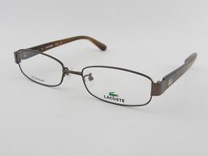 ■新品■Lacoste ラコステ 2149A-210 メガネフレーム  茶色 眼鏡 めがね チタン 軽量 クロコ ビジネス 度付対応 専用ケース付属