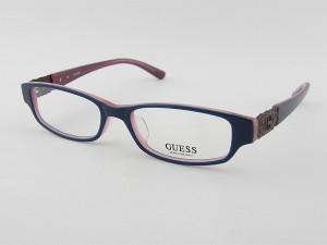 ■新品■ゲス GUESS 1671-BL メガネフレーム 女性 婦人 ブルー 眼鏡 めがね 在庫限り 伊達 早い者勝ち セルフレーム 青