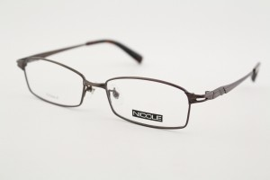 ■新品■ NICOLE ニコル 13209-2 メガネフレーム 茶色 メタル めがね 伊達眼鏡 デザイン 男性 メンズ