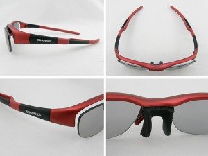 ■新品■SWANSスワンズSWF-602P-MTRサングラス 2010年新作 赤 ケース付 度付対応可 マラソン 自転車