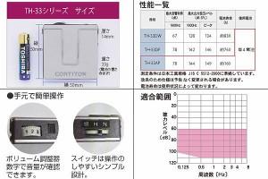 コルチトーン ポケット型 補聴器 TH-33AP ブルー 国産 中等度 高度 重度 集音器 聴覚障害補助