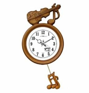 《素敵なインテリア》GB2051バイオリン掛け時計/電波時計