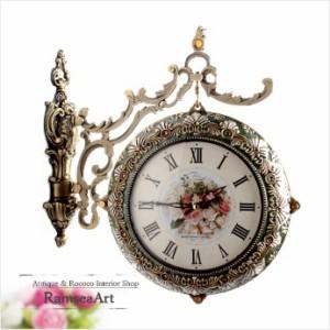 《素敵なインテリア》モニカ両面時計-GREEN
