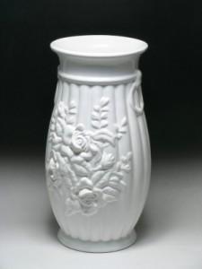 ポルトガル製おしゃれ 陶器 薔薇 傘立てホワイト ローズ インテリア にオススメの 白