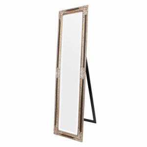 【送料無料】スタンドミラー ウォールミラー 2way 姿見 全身鏡 壁掛け鏡 アンティーク