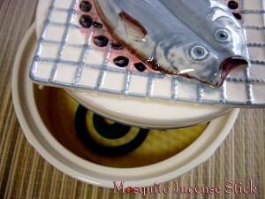 おもしろ雑貨-爆笑!七輪蚊とり器-蚊取り線香雑貨、魚と網の間から煙が!!