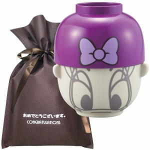 【おめでとうございますギフト】 汁椀・茶碗セット 大(デイジーダックリボン)【L】 プレゼント 女性 男性 誕生日プレゼント お祝い