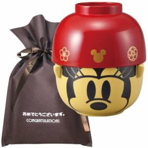 【おめでとうございますギフト】 和風汁椀茶碗セット(大) ミニーマウス【L】 プレゼント 女性 男性 誕生日プレゼント お祝い