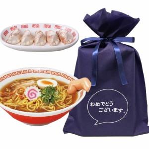 送料無料 【おめでとうございますギフトL】 指入りラーメン鉢&餃子のはしおきセット【L】 おもしろ プレゼント らーめん 食器