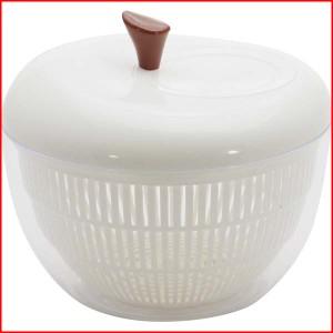 サラダスピナー 水切り器 野菜水切り サラダボウル おしゃれ かわいい キッチン ホワイトアップル サラダスピナー WHITE