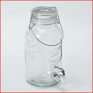 ドリンクサーバー ドリンクディスペンサー ガラス キャニスター 保存容器 密閉 ガラスジャー ガラスポット グラスビバレッジ ディスペン