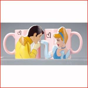 シンデレラグッズ マグカップペア ディズニープリンセス 食器 マグカップ  キスペアマグ シンデレラ