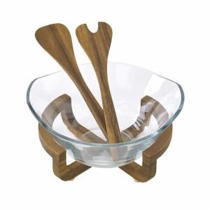 送料無料 BONO BONO ガラスボウル&サービングセット ガラス 器 食器 プレート サラダボウル 皿