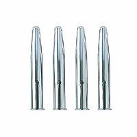 クツワ 鉛筆キャップシルバー4本 RB017 30個