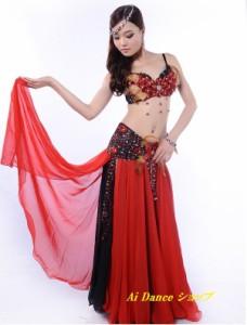 新着 ベリーダンス 衣装 ブラトップス ベルト 2点セット  全2色展開