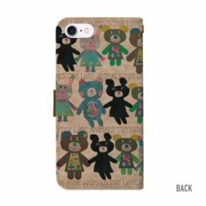 スマホケース 全機種対応 手帳型 iPhoneX ケース iPhone8 iPhone7 iPhone6s xperia aquos galaxy iPhone ケース カバー アイフォン くま