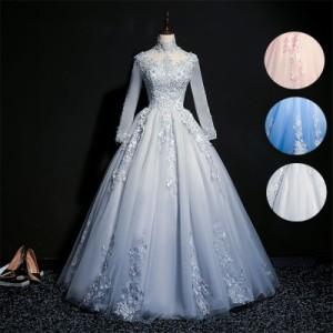 00ba86dfb9bd9 ロングドレス 演奏会 刺繍 ドレス ロング ステージ カラードレス 紺 宴会 ロングドレス パーティードレス