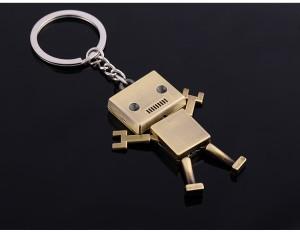 【2個セット】キーホルダー 愛くるしくて かわいい ロボット シルバーmmk-h26【1〜2日発送】