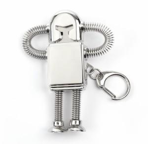 オモシロ ロボット USBメモリシルバー キーホルダー 16GBmmk-i05【8〜12日発送】