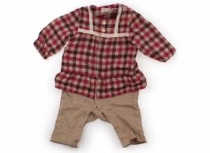 【ビケット/Biquette】カバーオール 70サイズ 女の子【USED子供服・ベビー服】(106867)
