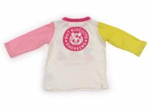 【ホットビスケッツ/Hot Biscuits】Tシャツ・カットソー 80サイズ 女の子【USED子供服・ベビー服】(107013)