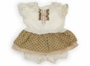 【ブランシェス/BRANSHES】カバーオール 80サイズ 女の子【USED子供服・ベビー服】(107095)