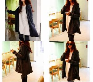 ヤスカワ 大きいサイズ韓国ファッションフード付き暖かいニートセーター パーカー F 661551