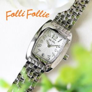 e69311d9b5 フォリフォリ FOLLI FOLLIE S922メタルベルト クオーツ レディース 腕時計 WF5T080BDS ホワイト wf5t080bds