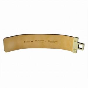 メゾンボワネ  Maison Boinet  Cinnamon ヒネリ金具 レザー ブレスレット バングル 40mm 95027G-79-28-S