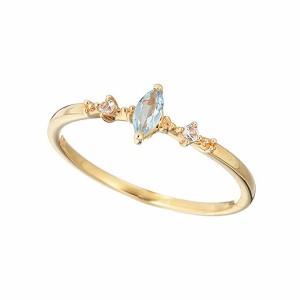 マレア リッチ  Marea rich  K10×ストーン ピンキーリング 指輪 Pinky Marquis Blue 12KJ-02
