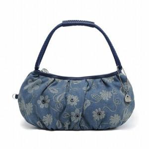 サボイ SAVOY デニム地に花模様をプリントしたハンドバッグ!  ハンドバッグ sm16740302