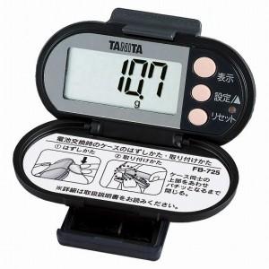 タニタ  脂肪燃焼量付き歩数計 FB-725-BK