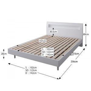 すのこベッド セミダブル【Alamode】【フレームのみ】 ウェンジブラウン 棚・コンセント付きデザインすのこベッド【Alamode】アラモード