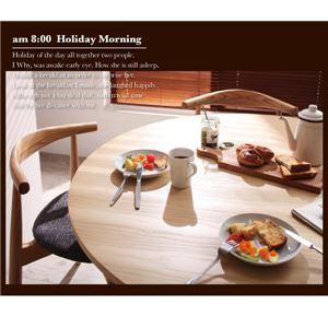 【単品】ダイニングテーブル【Rour】Aチャコールグレイ+Bアイボリー デザイナーズ北欧ラウンドテーブルダイニング【Rour】ラウール/5点