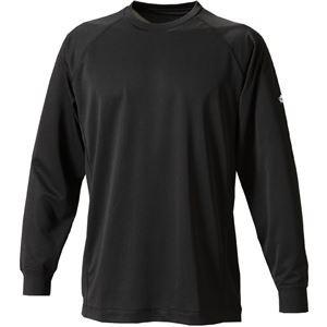 ファイテン(PHITEN) RAKUシャツSPORTS(吸汗速乾)長袖ブラックM JF900104