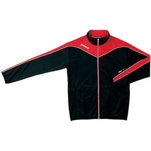 ヤマト卓球 VICTAS(ヴィクタス) トレーニングジャケット V-JJ012 033135 ブラック×レッド Oサイズ