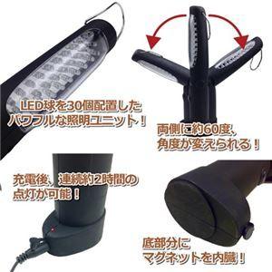 ジャステム 充電式LEDライト ミラクルFL30 810163
