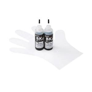 (まとめ)サンワサプライ 詰め替えインク INK-C9B120【×2セット】