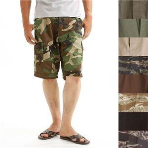 アメリカ軍 BDU カーゴショートパンツ/迷彩服パンツ〔XSサイズ〕 ブラウン〔レプリカ〕