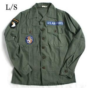 アメリカ軍 OG-107 ファティーグシャツ/長袖 〔 13 1/2サイズ :レディースフリー 〕 柄/AIR FORCE