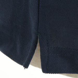 クールビズ 4ボタン吸汗速乾ポロシャツ 〔 2枚セット 〕 J2090 白×ネイビー Lサイズ