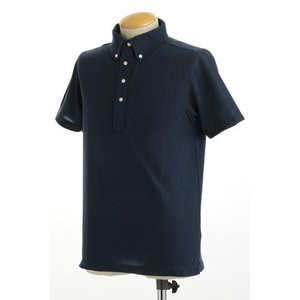 クールビズ 4ボタン吸汗速乾ポロシャツ 〔 2枚セット 〕 J2090 白×ネイビー LLサイズ