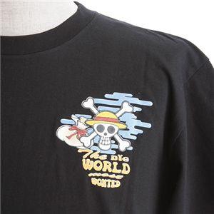むかしむかし ワンピースコレクション 和柄半袖Tシャツ S-2439/布袋ルフィ 黒L